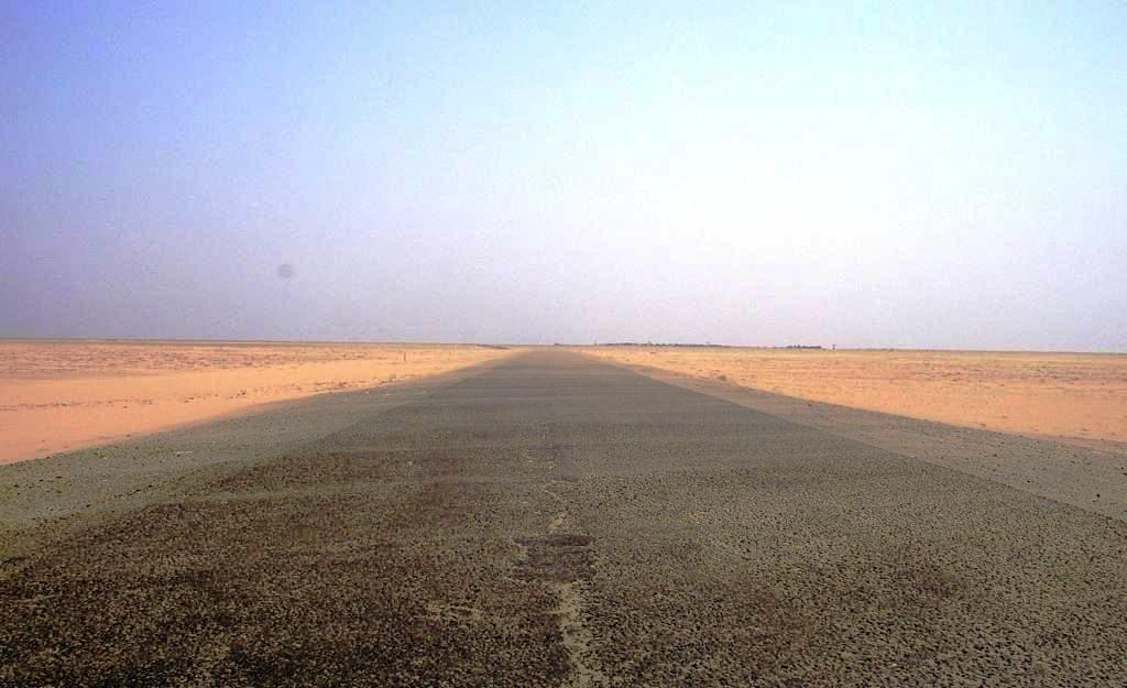 Route désert
