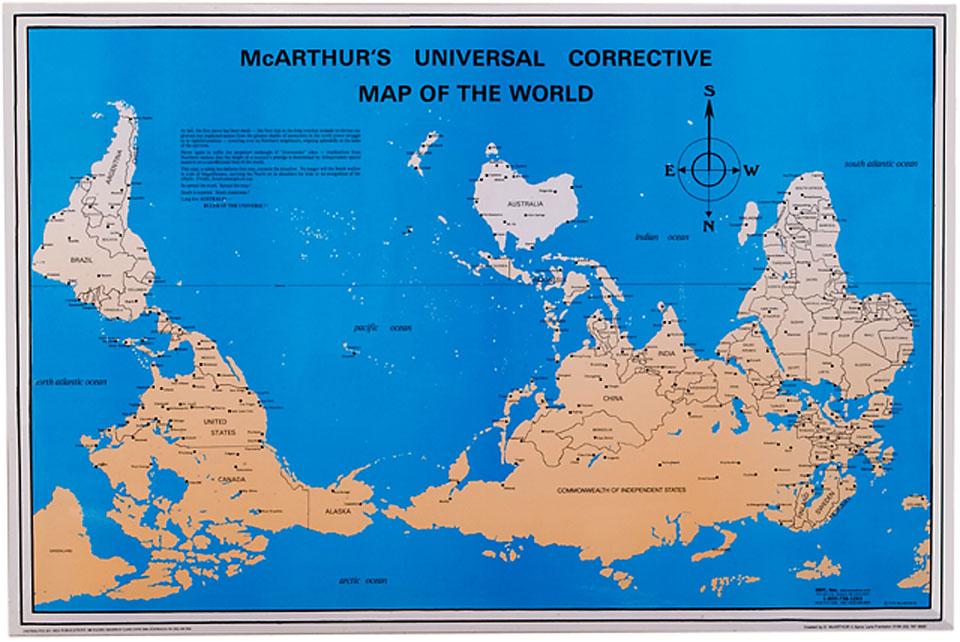 Australie - planisphère renversé