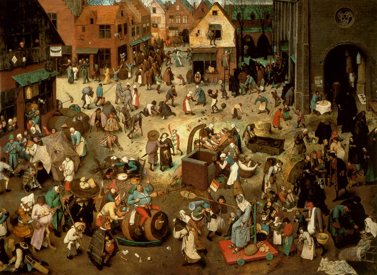 La lutte de Carême et de Mardi Gras, Bruegel l'Ancien