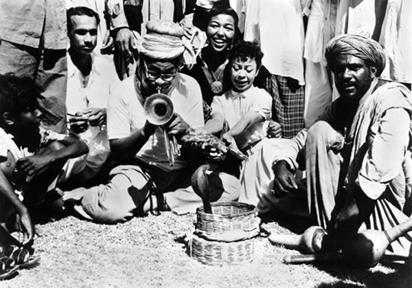 Dizzy Gillespie à Karachi, Pakistan, en 1956
