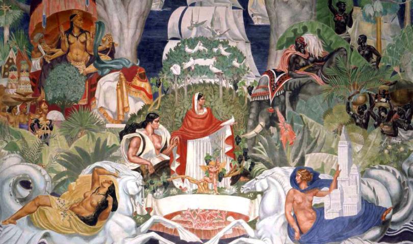 De La Haille - La France et les cinq continents, 1931, Musée du Quai Branly