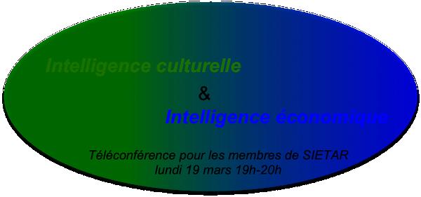 Téléconférence: Intelligence culturelle & Intelligence économique