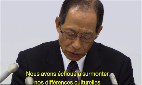 Tsuyoshi Kikukawa annonce le licenciement du PDG d'Olympus, Michael Woodford